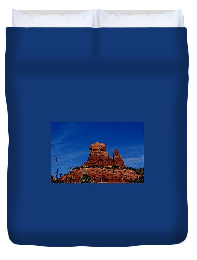 Schnebly Hill Duvet Cover featuring the photograph Schnebly Hill Vortex by The Art With A Heart By Charlotte Phillips