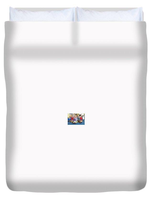 Missouri City Schools Duvet Cover featuring the photograph schools in Missouri city TX by Acreative Geniuschildcare