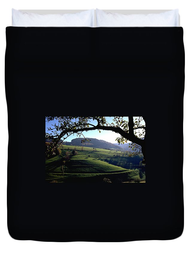 Schwarzwald Duvet Cover featuring the photograph Schwarzwald by Flavia Westerwelle