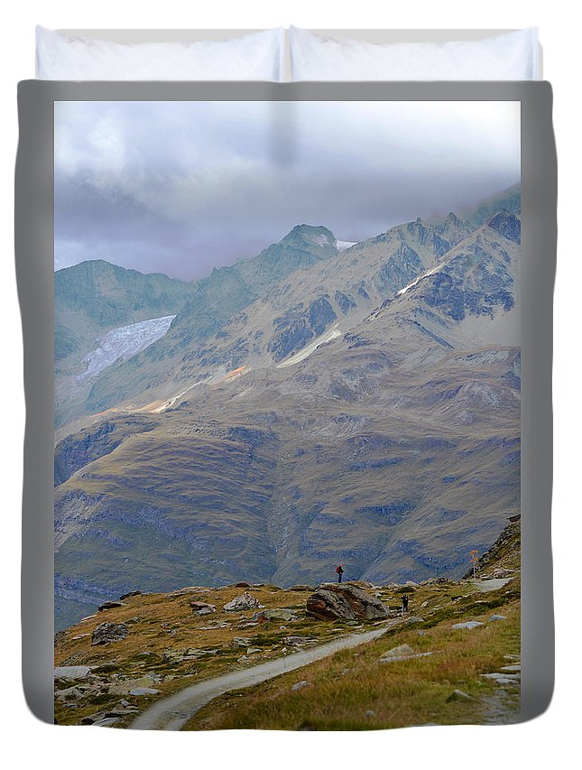 Alps Duvet Cover featuring the photograph Scoping The Alps by Jeffrey Hamilton