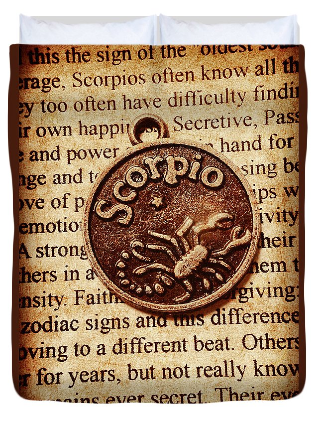 Old Duvet Cover featuring the photograph Scorpio Parchment by Jorgo Photography - Wall Art Gallery