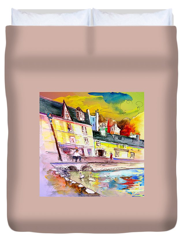 Scotland Paintings Duvet Cover featuring the painting Scotland 04 by Miki De Goodaboom