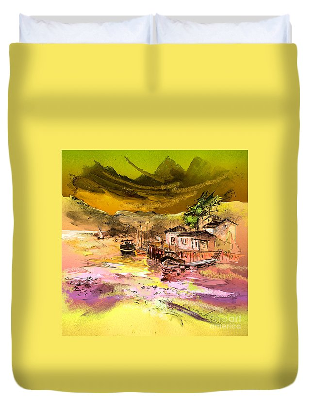 Scotland Paintings Duvet Cover featuring the painting Scotland 14 by Miki De Goodaboom