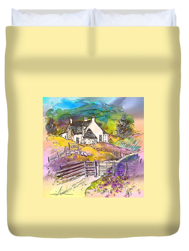 Scotland Paintings Duvet Cover featuring the painting Scotland 16 by Miki De Goodaboom