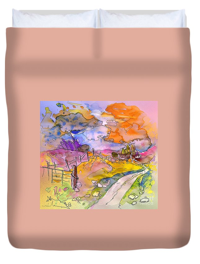 Scotland Duvet Cover featuring the painting Scotland 22 by Miki De Goodaboom