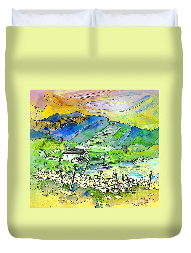 Scotland Duvet Cover featuring the painting Scotland 23 by Miki De Goodaboom
