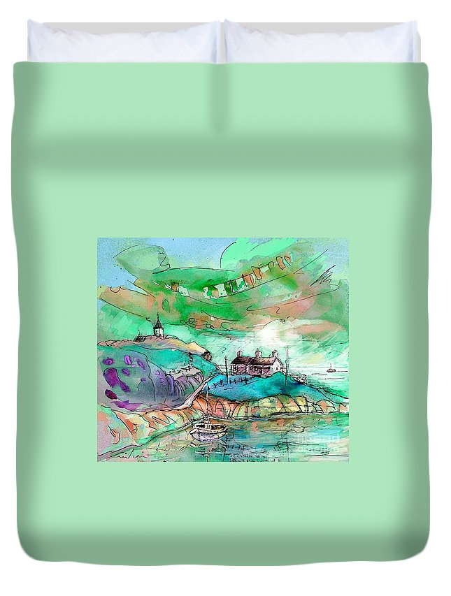Scotland Duvet Cover featuring the painting Scotland 25 by Miki De Goodaboom