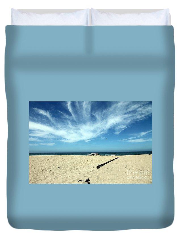 scott Creek Beach Duvet Cover featuring the photograph Scott Creek Beach California Usa by Amanda Barcon