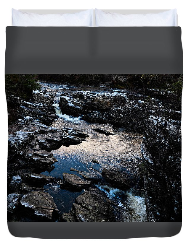 River Duvet Cover featuring the photograph Scottish Highlands by Robert Macdonald
