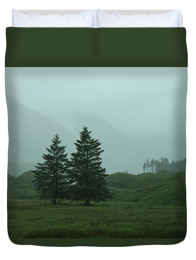 Nature Duvet Cover featuring the photograph Scottland by Lisa Spero