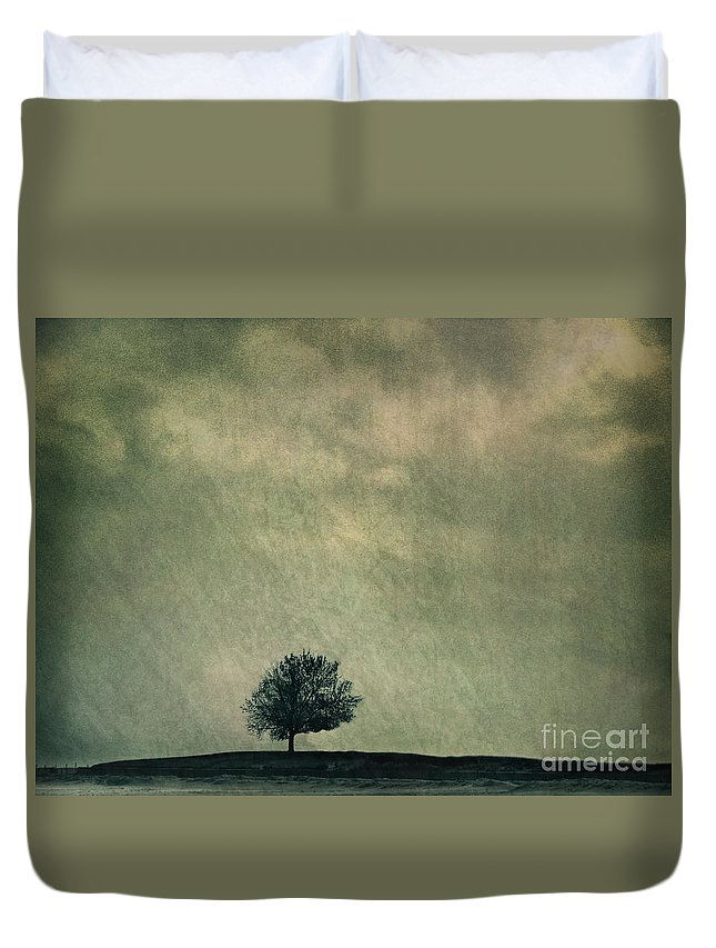 Blue Duvet Cover featuring the photograph Screaming At The Top Of My Voice by Dana DiPasquale