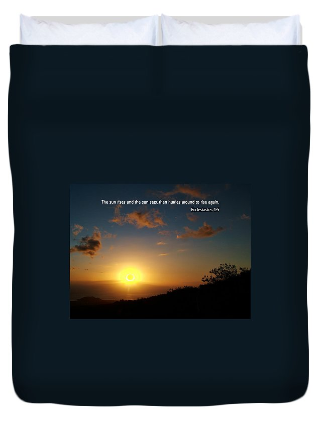 Bible Verses With Pictures Duvet Cover featuring the photograph Scriture And Picture Ephesians 1 5 by Ken Smith
