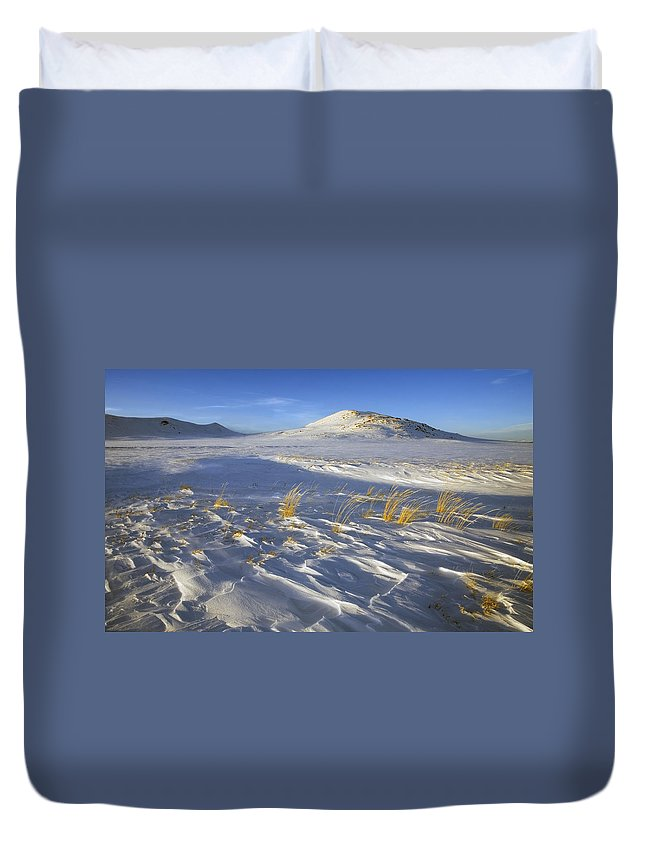 Winter Duvet Cover featuring the photograph Sculpted By The Wind by Mike Dawson