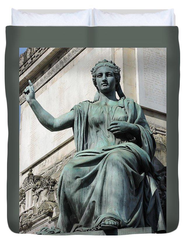 Sculpture Duvet Cover featuring the photograph Sculpture by Irina Moroz