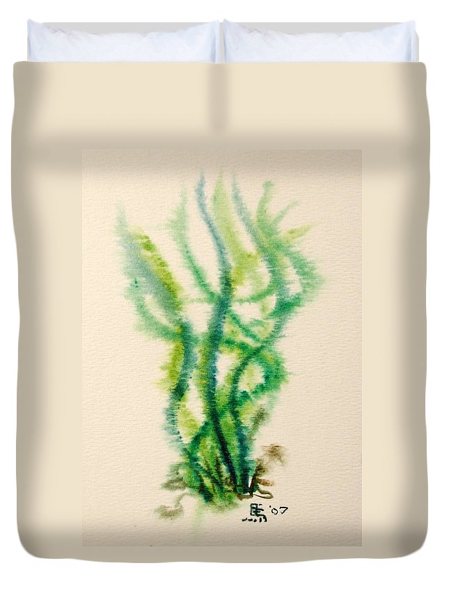 Sea Duvet Cover featuring the painting Sea Bed One by Dave Martsolf