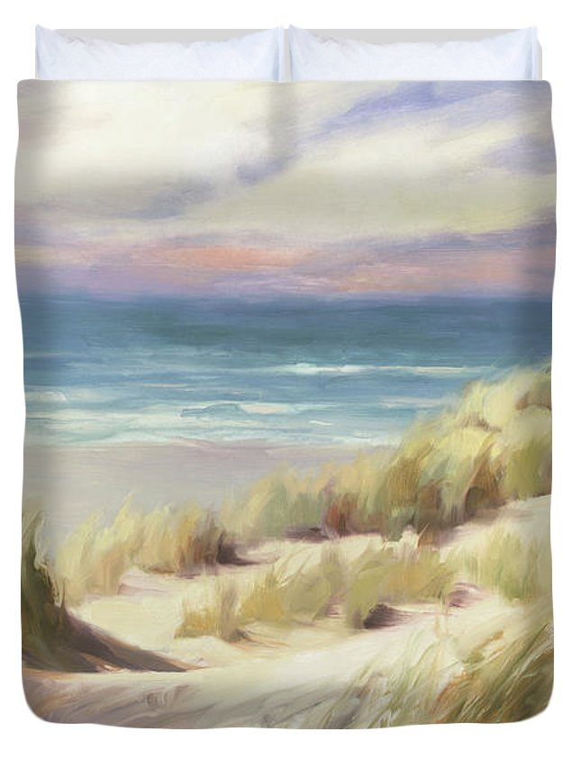 Ocean Duvet Cover featuring the painting Sea Breeze by Steve Henderson