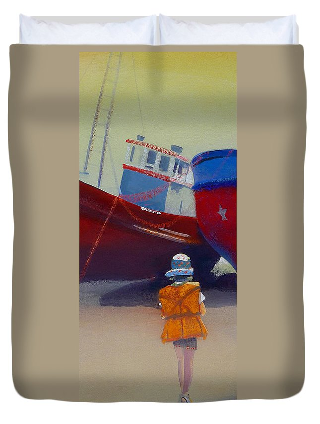 Dreamscape Duvet Cover featuring the painting Sea Dreamer by Charles Stuart