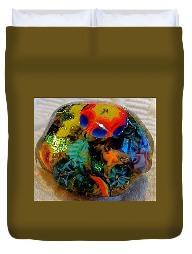Tide Pool Duvet Cover featuring the photograph Sea Flower Tidepool 1 by Melissa Nobert
