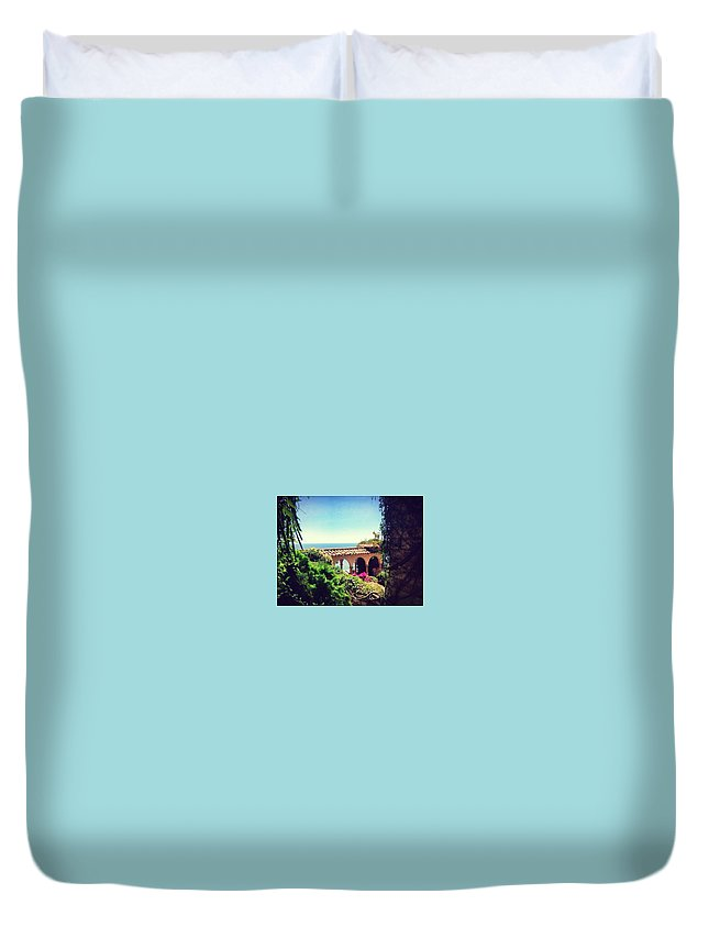 France Duvet Cover featuring the photograph Sea Glimpse by Rossana Azzoni