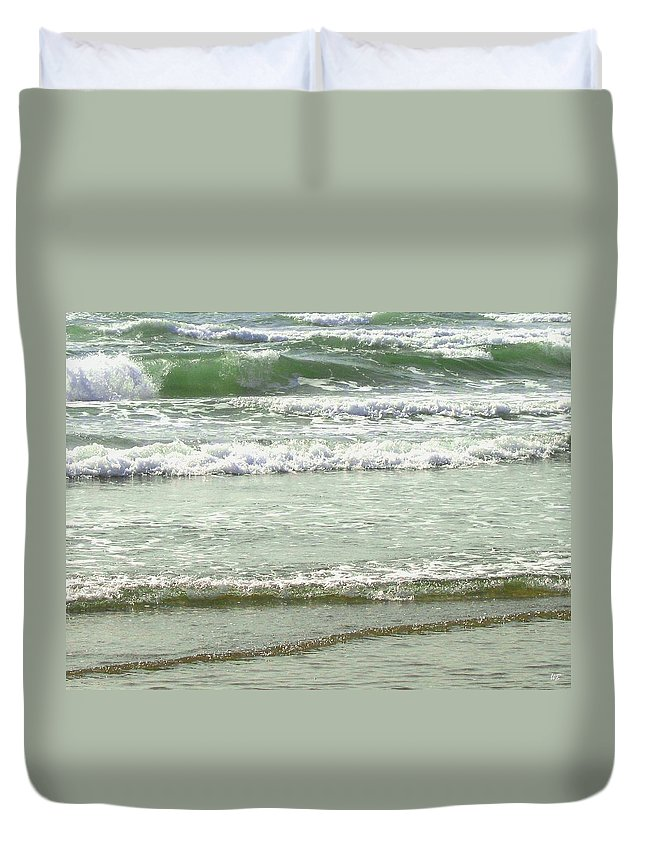 Sea Duvet Cover featuring the photograph Sea Green by Will Borden