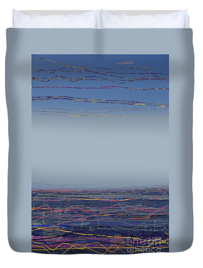 Mist Duvet Cover featuring the digital art Sea Mist II by Andy Mercer