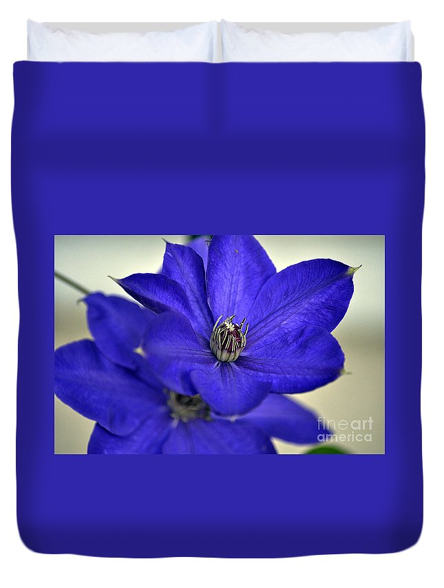 Clay Duvet Cover featuring the photograph Sea Of Blue by Clayton Bruster