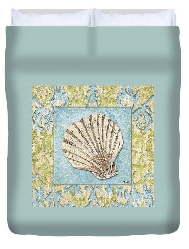 Bath Duvet Cover featuring the painting Sea Spa Bath 1 by Debbie DeWitt