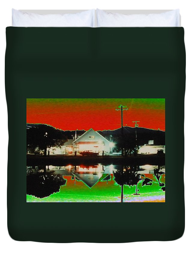 Seabeck Duvet Cover featuring the photograph Seabeck General Store by Tim Allen