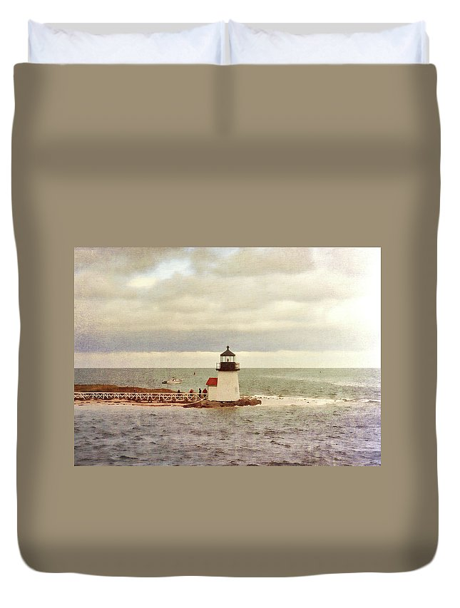 Cape Cod Duvet Cover featuring the photograph Seamans Light by JAMART Photography