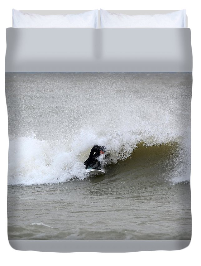 Duvet Cover featuring the photograph Sean 5 by Dave Johnson