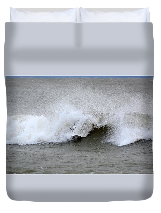 Duvet Cover featuring the photograph Sean 6 by Dave Johnson