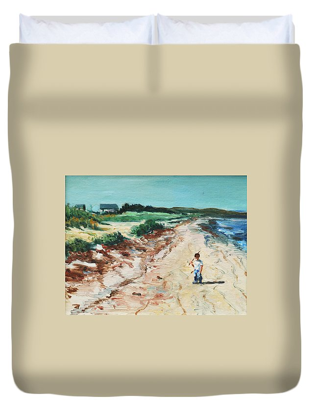 Beach Duvet Cover featuring the painting Sean by Rick Nederlof