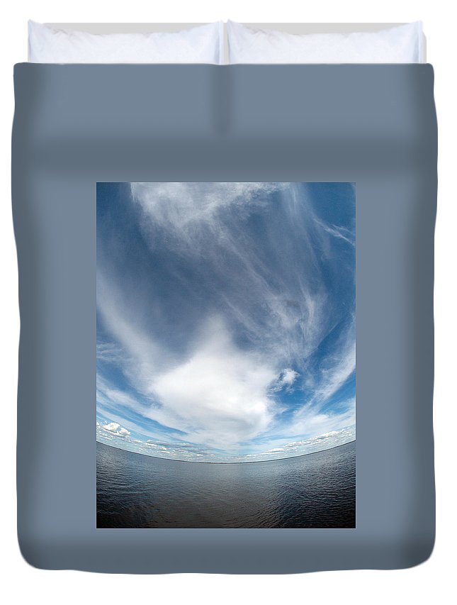 Gulf Of Bothnia Duvet Cover featuring the photograph Seascape by Jouko Lehto