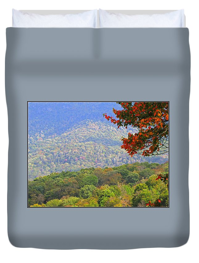 Fall Duvet Cover featuring the photograph Seasonal Color by Gary Adkins