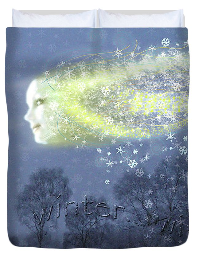 Seasons Duvet Cover featuring the painting Seasons Winter by Neil Finnemore