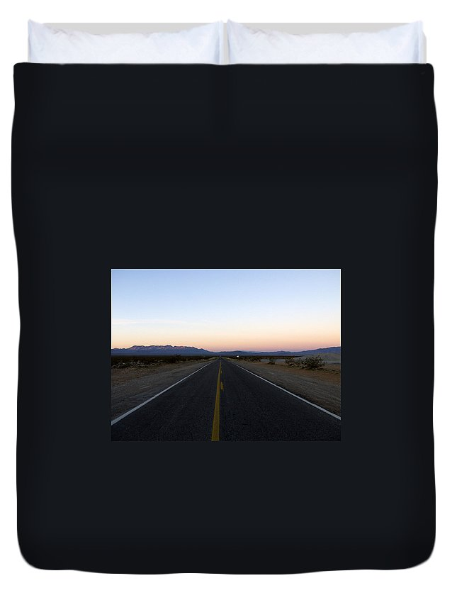 Road Duvet Cover featuring the photograph Secluded Sunrise by Kelvin Booker