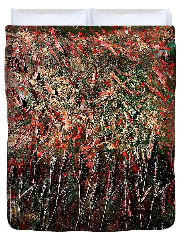 Nature Duvet Cover featuring the painting Secondavera by Roberto Del Fabbro