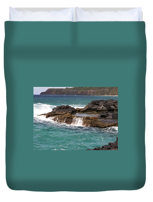 Beach Duvet Cover featuring the photograph Secret Beach by Amy Fose