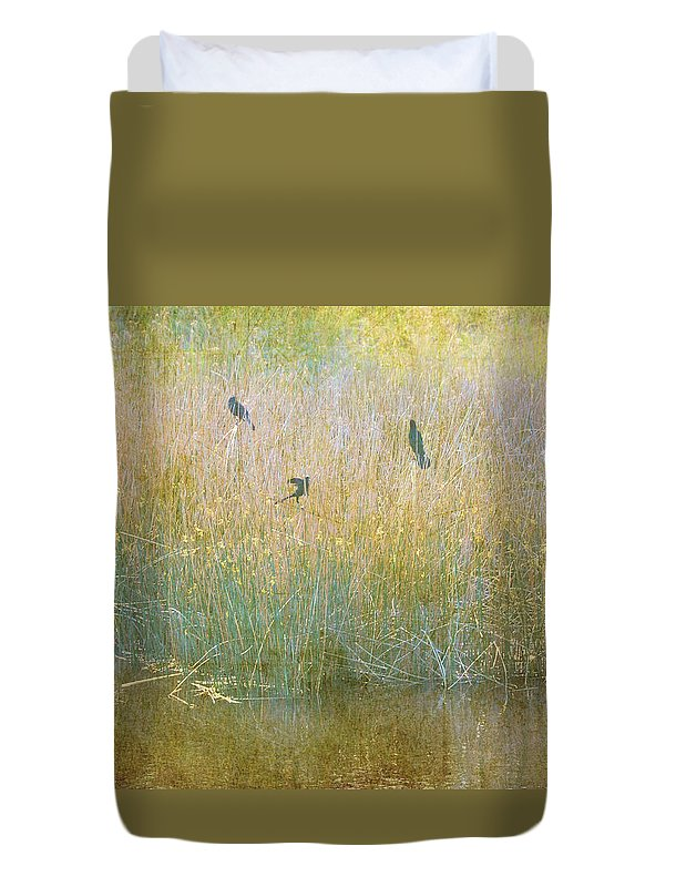 Landscapes Duvet Cover featuring the photograph Secrets Buried In August by Jan Amiss Photography