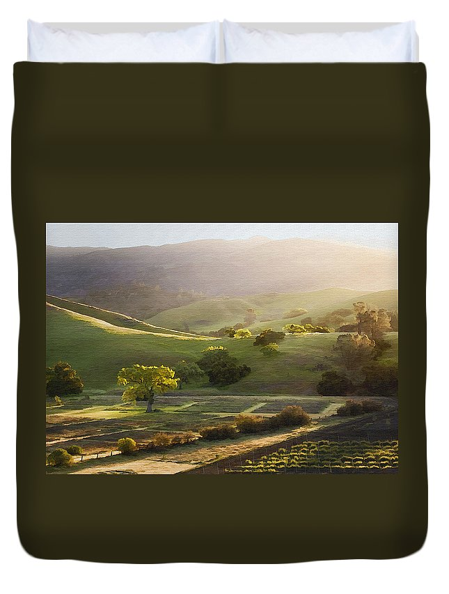 Landscape Duvet Cover featuring the photograph Sedgwick Sunrise by Sharon Foster