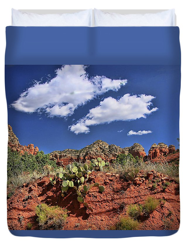 Arizona Duvet Cover featuring the photograph Sedona # 16 - Red Rocks by Allen Beatty