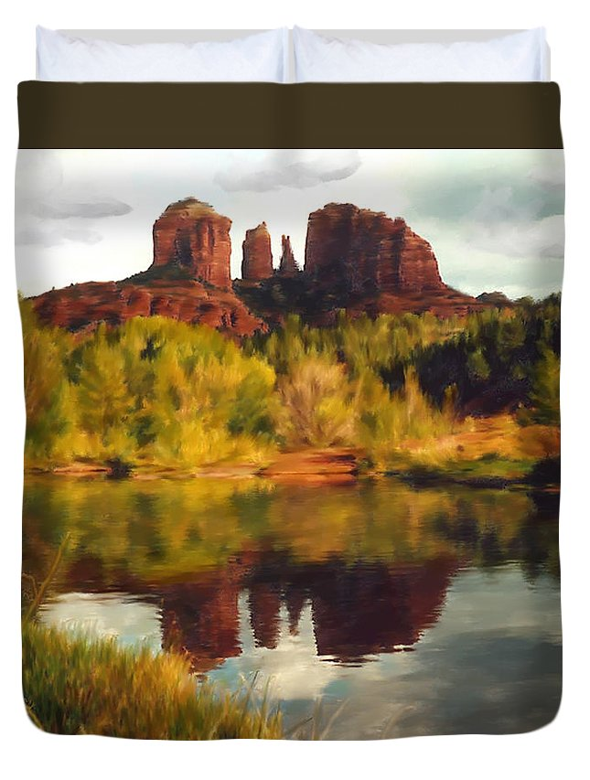 Sedona Duvet Cover featuring the photograph Sedona by Kurt Van Wagner