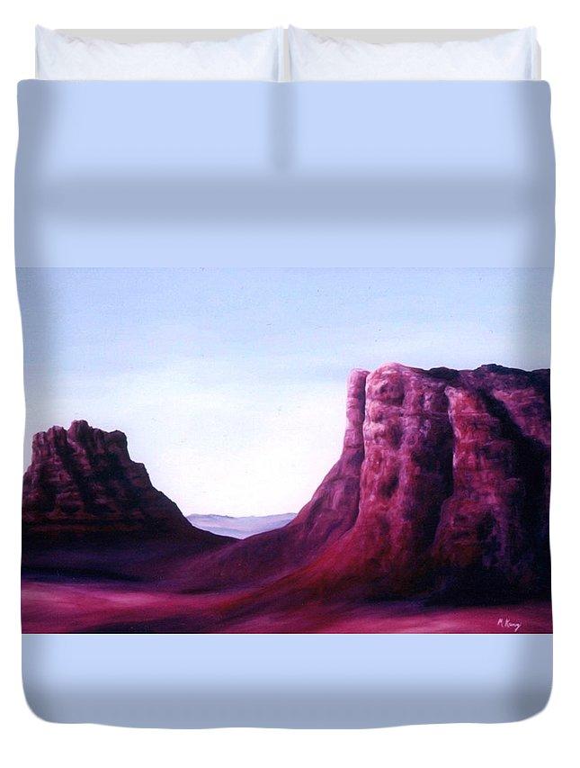 Arizona Duvet Cover featuring the painting Sedona by Melissa Joyfully