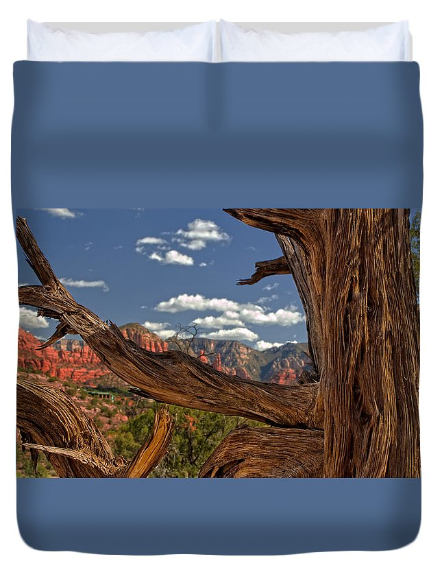 Arizona Duvet Cover featuring the photograph Sedona Mountains Arizona by Waterdancer
