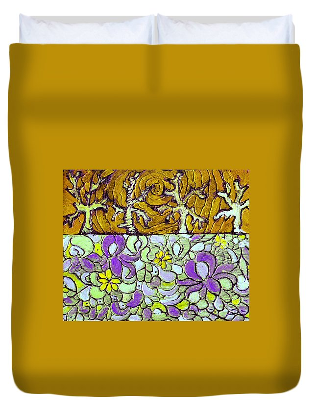 Meadow Duvet Cover featuring the painting Seduced By The Meadow by Wayne Potrafka