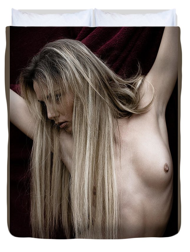 Sensual Duvet Cover featuring the photograph See Me by Olivier De Rycke