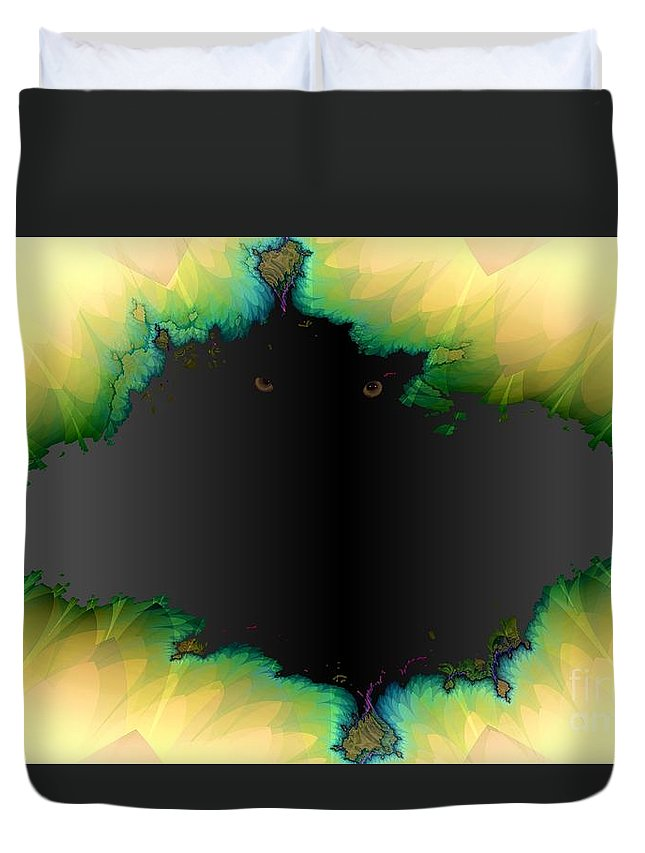 Eyes Duvet Cover featuring the digital art See You by Ron Bissett