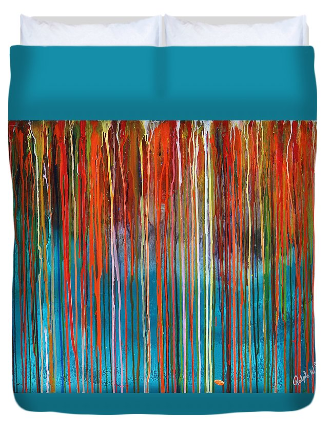 Fusionart Duvet Cover featuring the painting Seed by Ralph White
