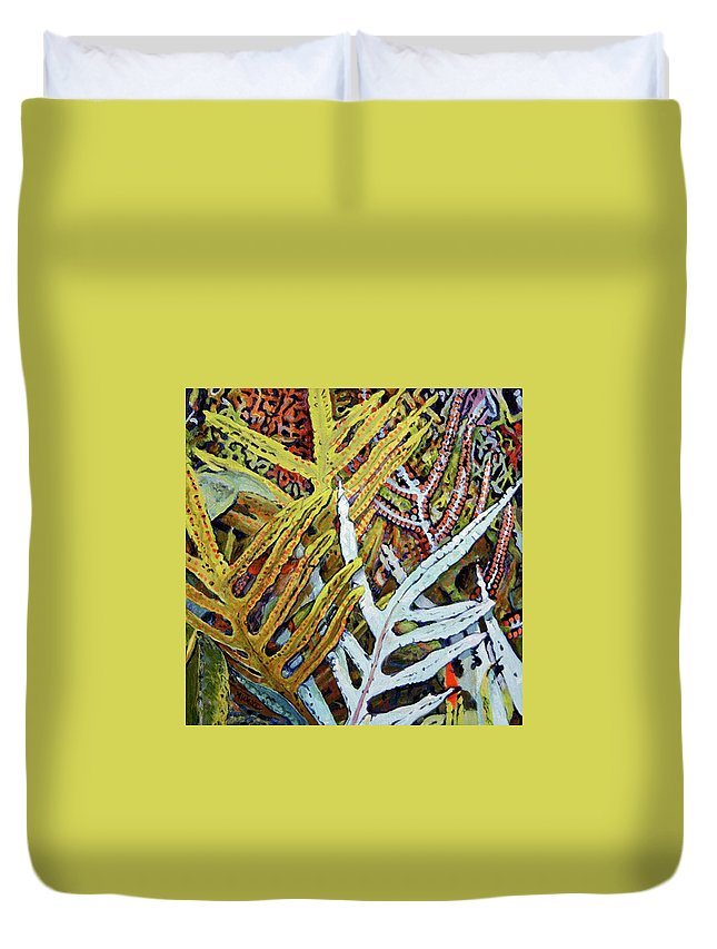 An Award Winning Painting Of The Seed Producing Capacity Duvet Cover featuring the painting Seeds by Amy White