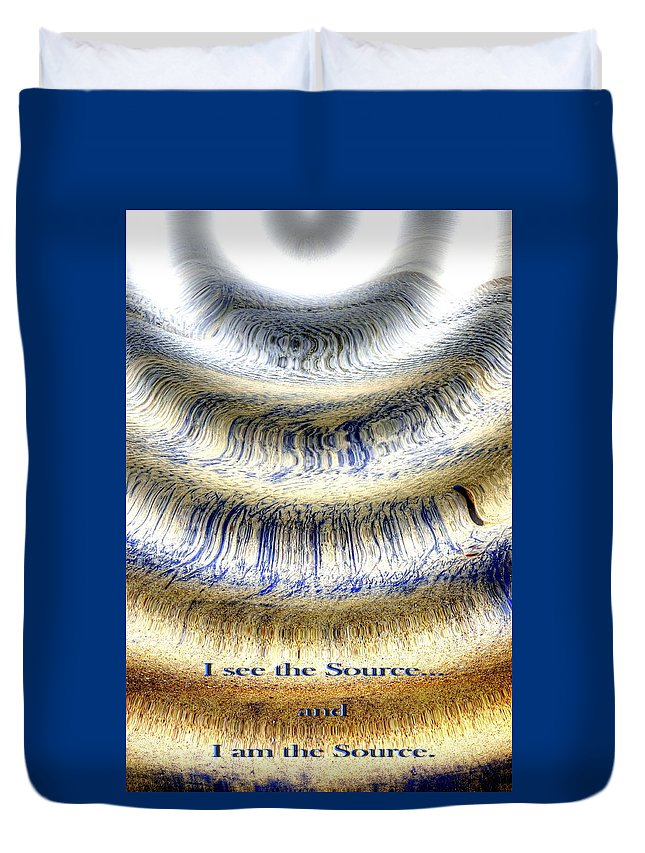 Abstract Photography Duvet Cover featuring the photograph Seeing The Source by Richard Omura